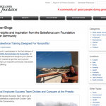 Salesforce Foundation blogs, 2009