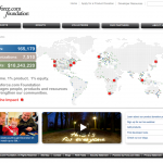 Salesforce Foundation home page, 2009