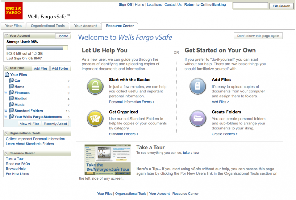 Wells Fargo vSafe